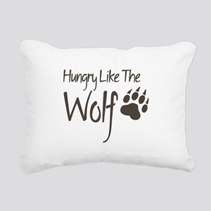 Hungry Like The Wolf Rectangular Canvas Pillow