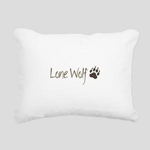 Lone Wolf Rectangular Canvas Pillow