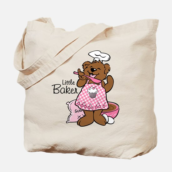 Bear Little Baker Tote Bag