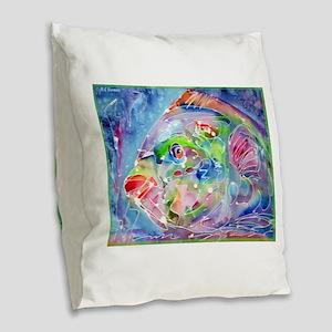 Tropical Fish! Colorful art! Burlap Throw Pillow