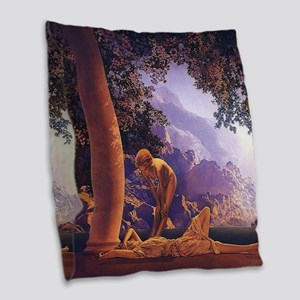 Maxfield Parrish Daybreak Burlap Throw Pillow