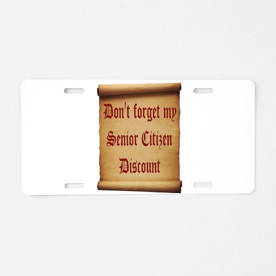 SENIOR SCROLL Aluminum License Plate