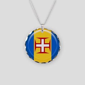 Madeira islands flag Necklace Circle Charm