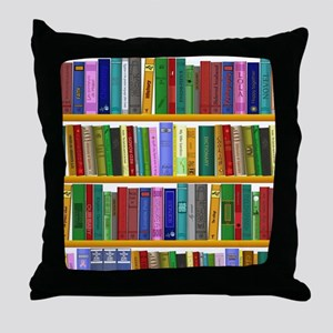 The bookshelf Throw Pillow