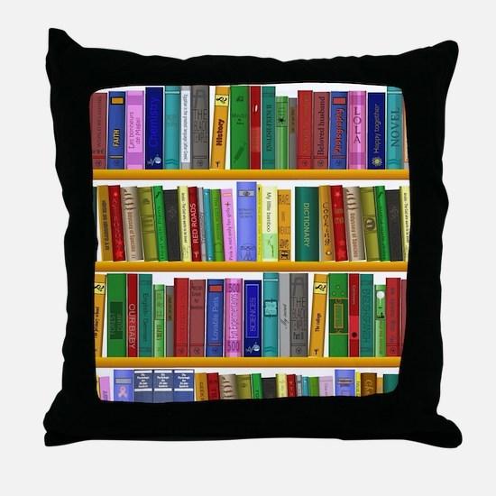 The bookshelf Throw Pillow
