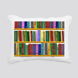 The bookshelf Rectangular Canvas Pillow