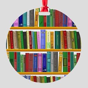 The bookshelf Round Ornament