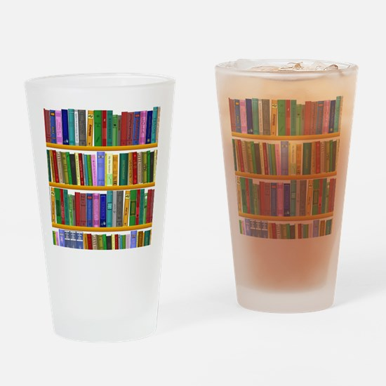 The bookshelf Drinking Glass