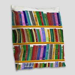 The bookshelf Burlap Throw Pillow