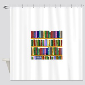 The bookshelf Shower Curtain