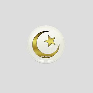 Gold Star and Crescent Mini Button