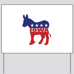 Iowa Democrat Donkey Yard Sign