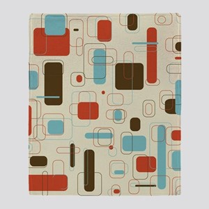 Colorful Modern Geometric Abstract A Throw Blanket