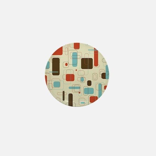 Colorful Modern Geometric Abstract Art Mini Button