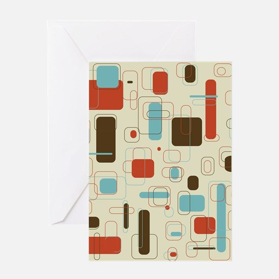 Colorful Modern Geometric Abstract A Greeting Card