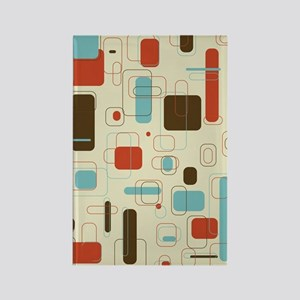 Colorful Modern Geometric Abstrac Rectangle Magnet
