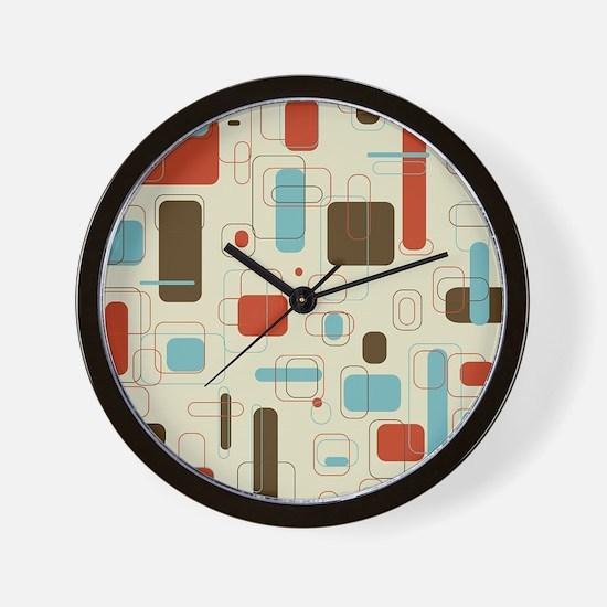 Colorful Modern Geometric Abstract Art  Wall Clock
