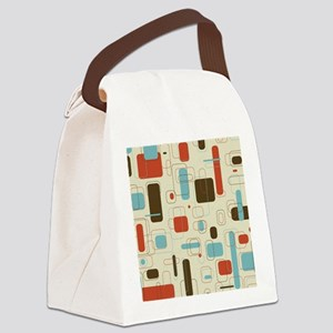 Colorful Modern Geometric Abstrac Canvas Lunch Bag