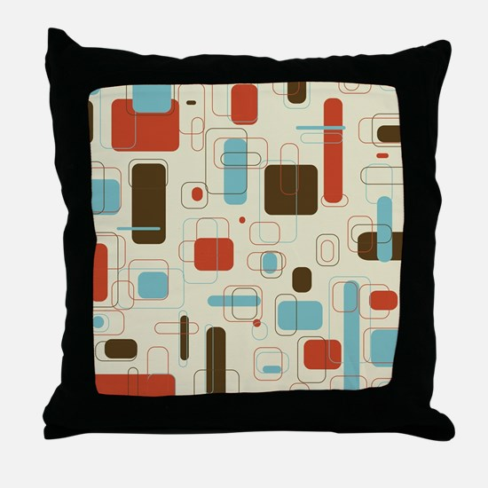 Colorful Modern Geometric Abstract Ar Throw Pillow