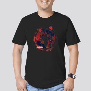 Spiderman Paint Men's Fitted T-Shirt (dark)