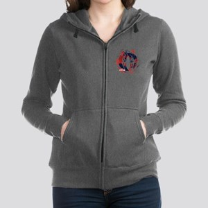 Spiderman Paint Women's Zip Hoodie