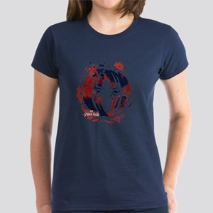 Spiderman Paint Women's Dark T-Shirt