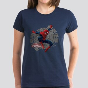Spiderman Web Women's Dark T-Shirt