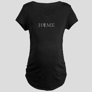 Illinois Home State Maternity Dark T-Shirt