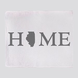 Illinois Home State Throw Blanket