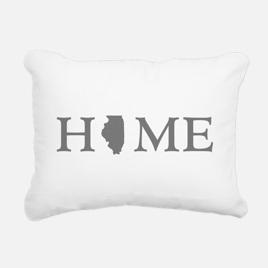 Illinois Home State Rectangular Canvas Pillow