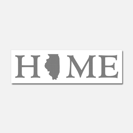 Illinois Home State Car Magnet 10 x 3