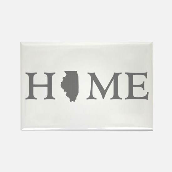Illinois Home State Rectangle Magnet
