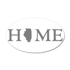 Illinois Home State Wall Decal