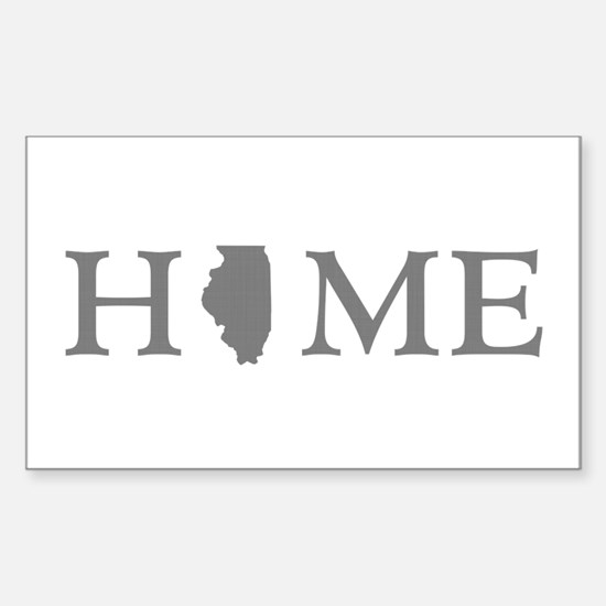 Illinois Home State Sticker (Rectangle)