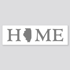 Illinois Home State Sticker (Bumper)