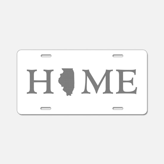 Illinois Home State Aluminum License Plate