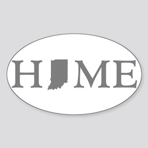 Indiana Home Sticker (Oval)