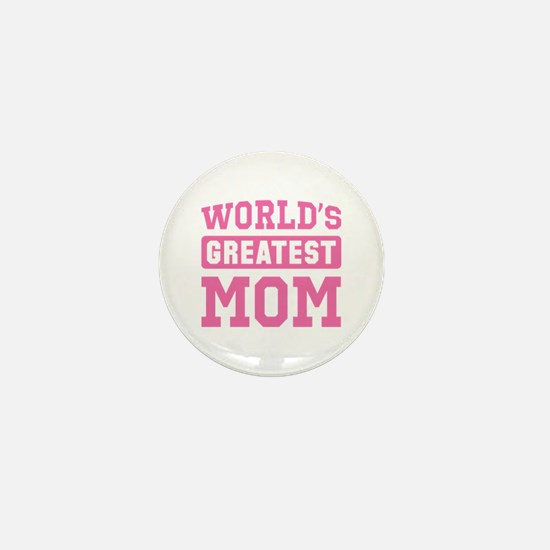 [Pink] World's Greatest Mom Mini Button