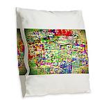 Spectrum of memories Burlap Throw Pillow