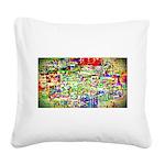 Spectrum of memories Square Canvas Pillow