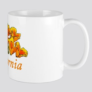 Stylized California Poppies Mug