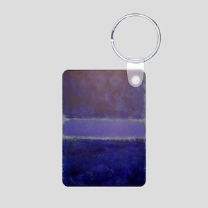 Shades of Purples  rothko  Aluminum Photo Keychain
