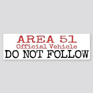 Area 51 Official Vehicle Bumper Sticker