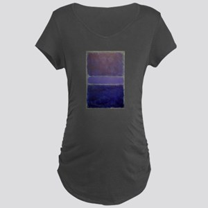 Shades of Purples rothko copy_ Maternity T-Shirt