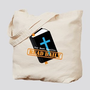 Read Bible Daily Tote Bag