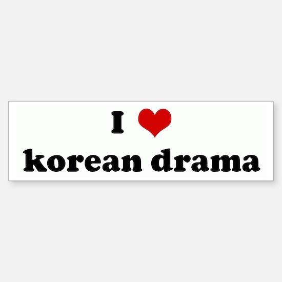 I Love korean drama Bumper Bumper Bumper Sticker