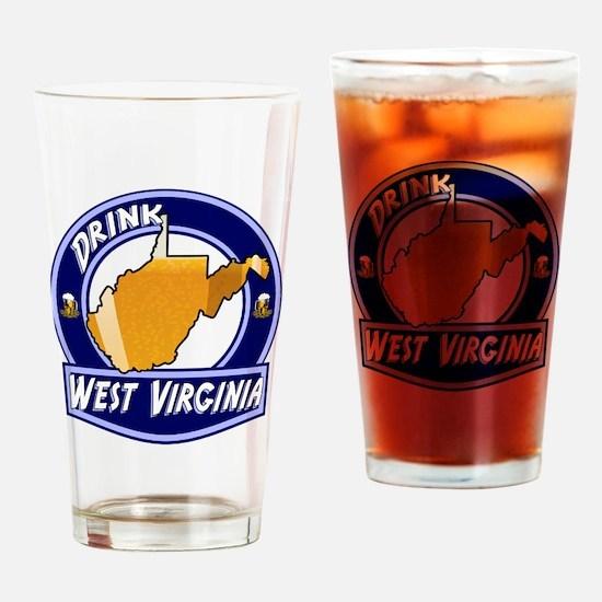 Drink West Virginia Drinking Glass
