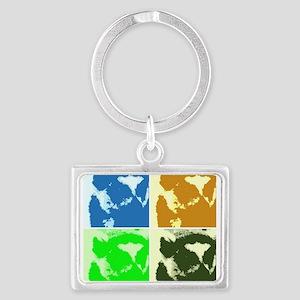 Lemur Pop Art Keychains