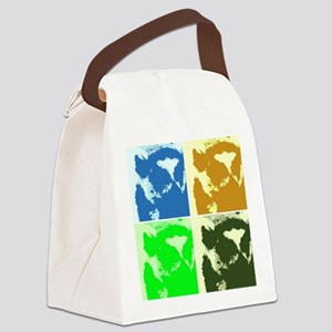 Lemur Pop Art Canvas Lunch Bag