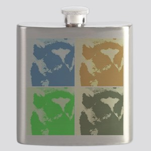 Lemur Pop Art Flask